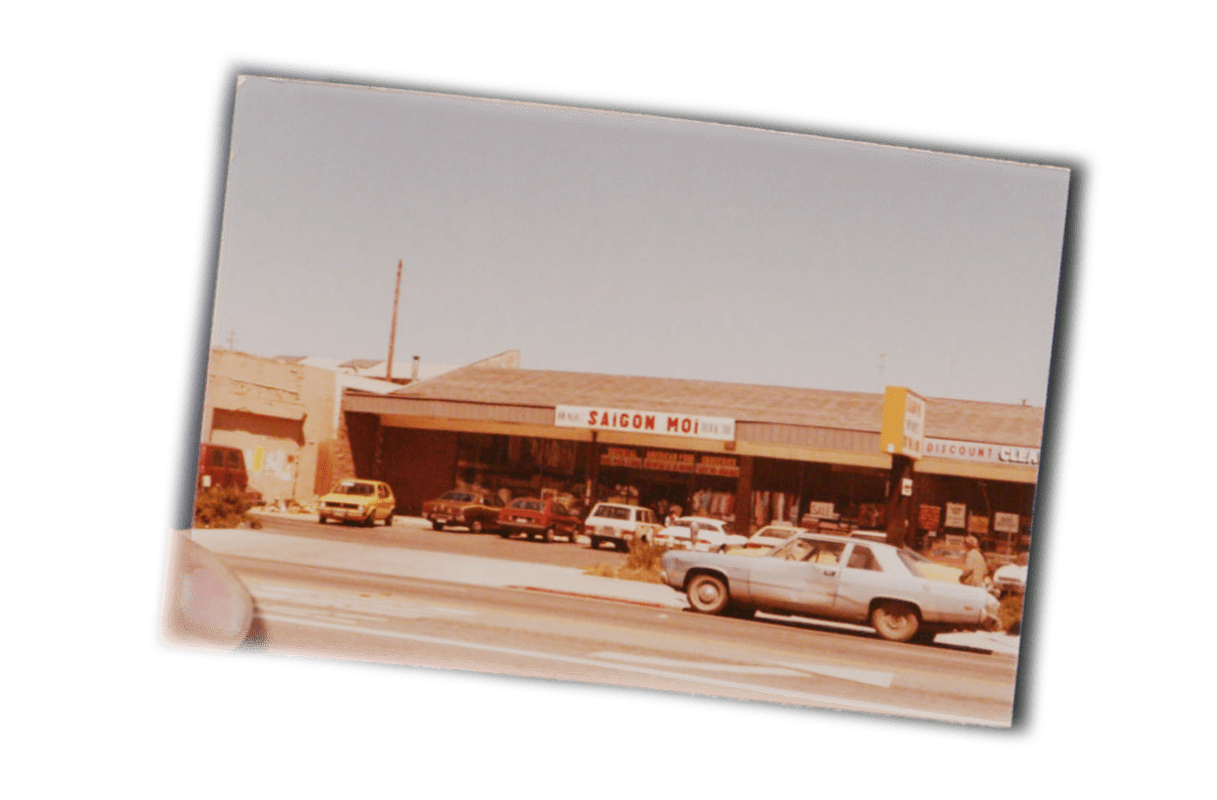 A photo of a grocery store in southern California that once belonged to Viet Thanh Nguyen's parents